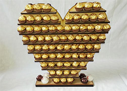 Ferrero Rocher Gold Heart Shaped Stand