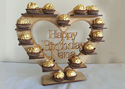 Happy Birthday Nan, Nana or Nanny Ferrero Roche Stand
