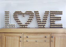 Love Heart Letters with Ferrero Rocher Stand